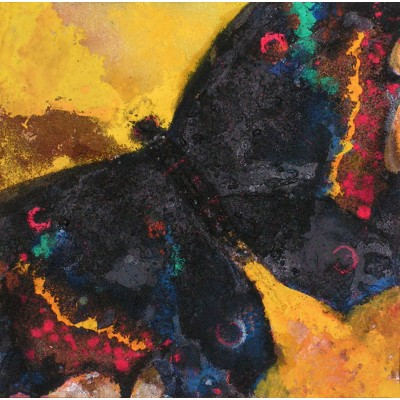 My Queen Butterfly, oil on canvas, 35 x 35 cm, by Todor Ignatov - Tony