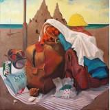 Baggage, oil on canvas, 100 x 100 cm, by T. Ignatov