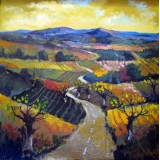 Road to Home II, oil on canvas, 50 x 50 cm, by T. Ignatov
