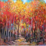 Autumn Forest II, oil on canvas, 50 x 50 cm, by T. Ignatov