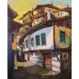 The Old Houses, acrol on canvas, 50 x 40 cm, by T. Ignatov