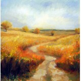 Way through the Poppy Fields, oil on canvas, 30 x 30 cm, by T. Ignatov