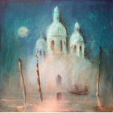 Moon Venice, oil on canvas, 40 x 40 cm, by T. Ignatov