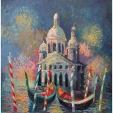 Venice Carnival, oil on canvas, 50 x 50 cm, by T. Ignatov