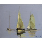 Silence, oil on canvas, 33 x 41 cm, by T. Ignatov