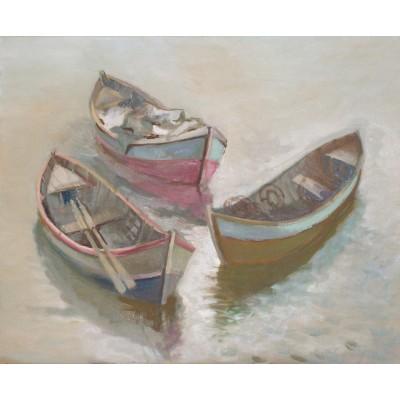 Near the Coast, oil on canvas, 55 x 70 cm, by T. Ignatov