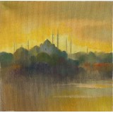 Istanbul, oil on canvas, 20 x 20 cm, by T. Ignatov