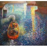Night Maneuvers, oil on canvas, 80 x 80 cm, by T. Ignatov