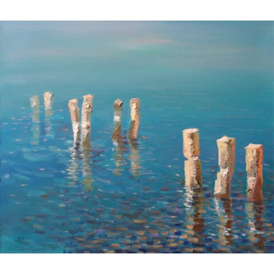Reflections (Baltics), oil on canvas, 55 x 65 cm, by T. Ignatov