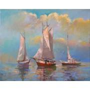 Expectation, oil on canvas, 33 x 41 cm, by T. Ignatov