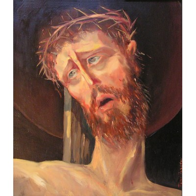 Sufferance, oil on canvas, 40 x 35 cm, by T. Ignatov
