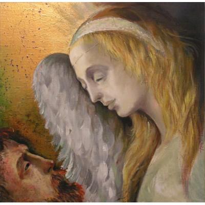 My Guardian Angel, oil on canvas, 50 x 50 cm, by T. Ignatov