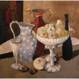 Still Life with Fruits, oil on canvas, 70 x 70 cm, by T. Ignatov